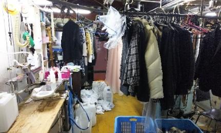 はりまやクリーニング:一般的な大量生産の現場